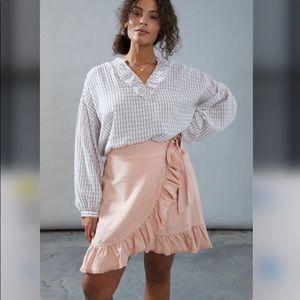 Pilcro Nettie Ruffled Mini Skirt